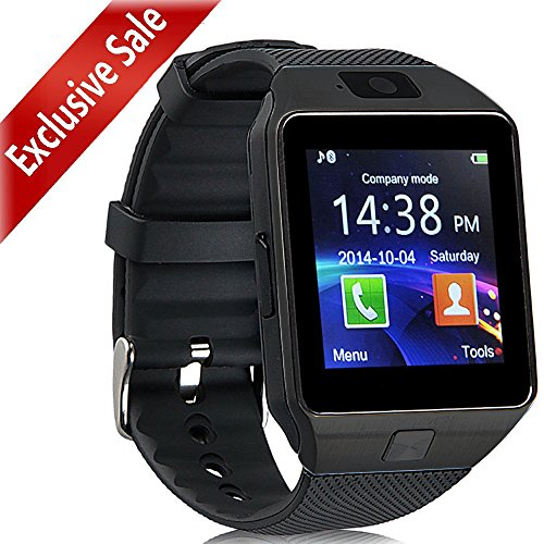 Smartwatch Padgene Nuovo Orologio da polso Fitness Bluetooth con Touch Screen. Fotocamera con Slot per SIM Card 2.0. Supporta Schede TF per IOS Android Samsung Huawei Xiaomi Sony LG HTC Iphone7/6s/6/5s/5