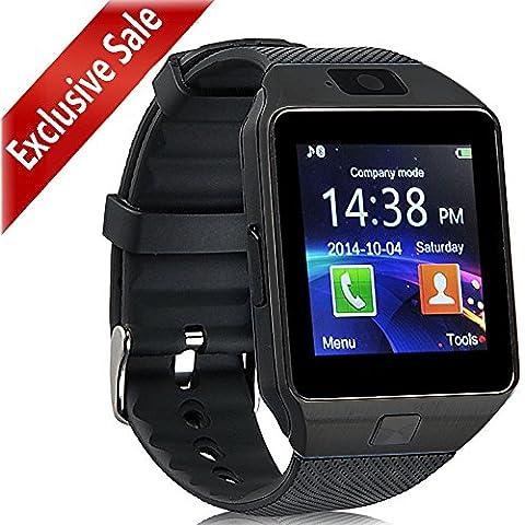 [actualizado] reloj inteligente, Padgene Bluetooth cámara inteligente muñeca reloj teléfono con tarjeta SIM ranura 2.0Cámara tarjeta TF Apoyo Android Samsung HTC LG Sony Blackberry HUAWEI Smartphone --- mejores regalos, All