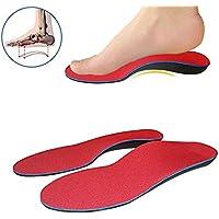 Yeshi, 1Paar mit Orthotics Einlegesohlen Feet Pronation Plantarfasziitis, Unisex, für den Innenbereich rot rot S preisvergleich bei billige-tabletten.eu