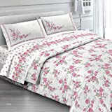ANGEBOT komplett Bettwäsche Doppelbett Cloe Pink–in italienischer Baumwolle–Made in Italy Qualitätsprodukt