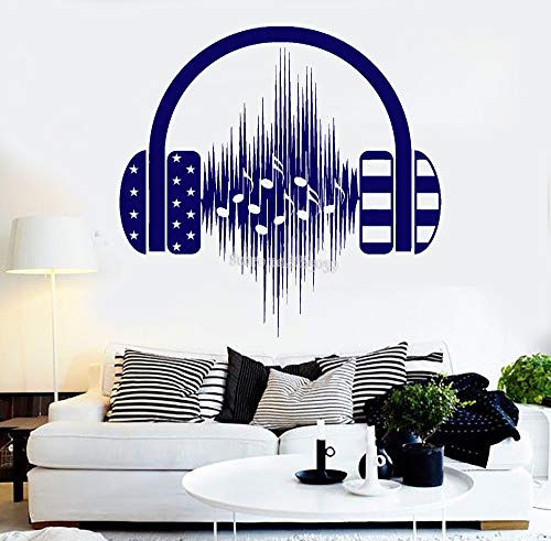 Headphones Music Sticker Window Stickers Wall Decals for sale  Delivered anywhere in UK
