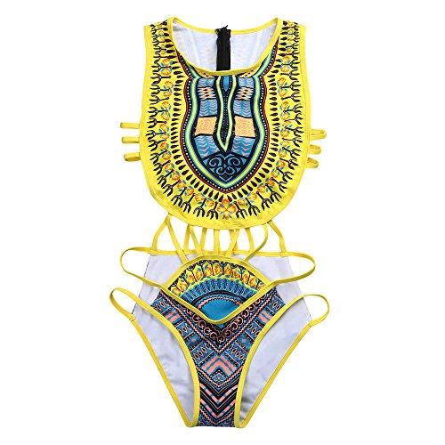 VECDY 2019 Bañador Monokini Push Up Traje De Baño