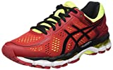 Asics Herren Kayano 22 Laufschuhe, Rot (Red Pepper/Black/Flash Yellow),39 EU