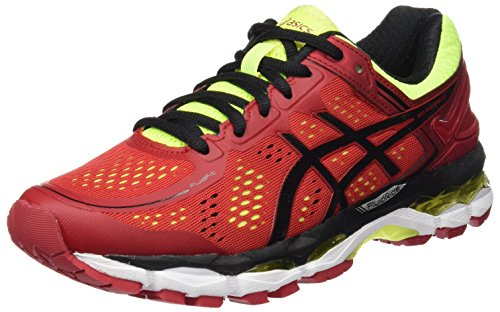 asics-kayano-22-scarpe-running-uomo-rosso-red-pepper-black-flash-yellow-eu