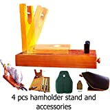 STRONG Ham stand set 4 Pcs serrano ham holder + ham knife + ham Cover + knife sharpener serrano jamonero