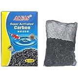 Super Activated Carbon 150g–carbón activo para Acuario, material filtrante contenido en el calcetín correspondiente
