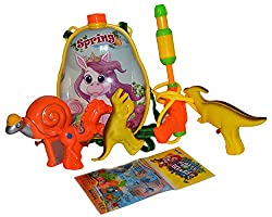 Toyzstation Spring Cartoon Water Tank with Multiple Water Guns Combo and Water Balloons