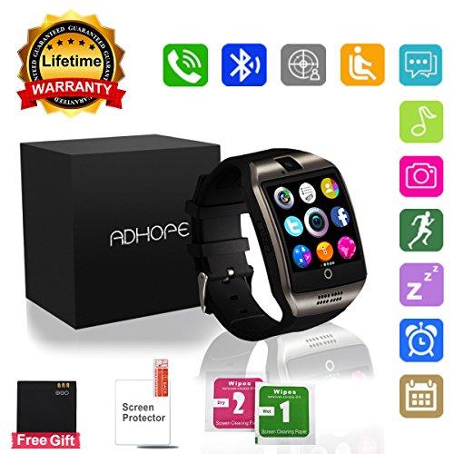 Bluetooth Smart Watch con cámara, pantalla táctil desbloqueada Reloj celular con ranura para tarjeta SIM para Android iOS Smartphone Hombres Mujeres Niños Kids Idea de regalo