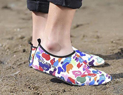 Erwachsene Tauchen Schuhe Yoga Laufband Schuhe Waten Schuhe Schwimmen Schuhe Net Schuhe Rot