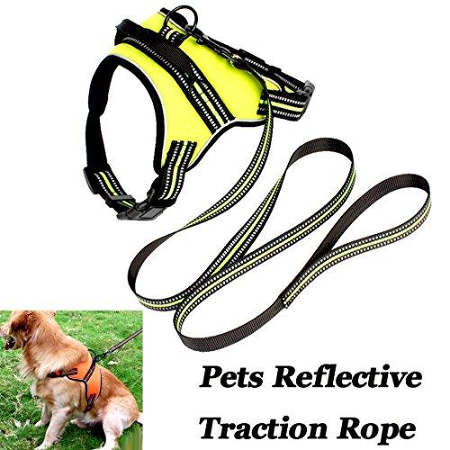 Preisvergleich Produktbild Pet Brust Sling Traktion Seil Hund Kette Warnweste Walking Surfen Wandern Camping Sicherheit Hund Seil (1Stück)