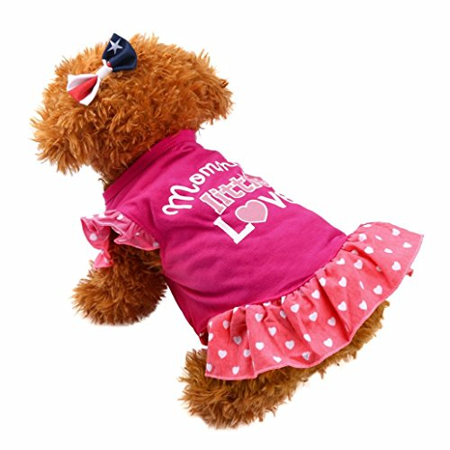 Hmeng Sommer Nette Haustier Weste Welpen Kleine Hundekatze Haustier Kleid Kleid Kleidung Fliegen Hülsen Kleid