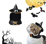Hillento carino strega mantello con cappuccio, guidata costume di Halloween per i piccoli cani e gatti gattino, costume da gatto