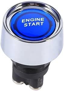 Vgeby 12 V Universal Auto Motor Start Druckknopf Zündung Starter Schalter Für Rennwagen Farbe Blau Gewerbe Industrie Wissenschaft