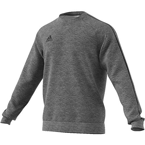 adidas Herren CORE18 Sweatshirt Dark Grey Heather/Black L