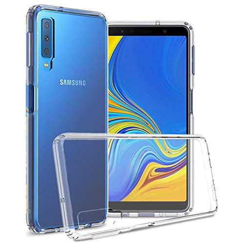 CoverON [ClearGuard-Serie] Galaxy A7 2018 transparente Hülle, Slim Fit Handyhülle mit klarer Rückseite und TPU Bumper für Samsung Galaxy A7 (2018) (A750), farblos A700 Cell Phone