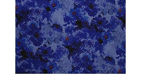 029b8ded1c Tessuto al metro: Denim chiaro a fiori blu: Amazon.it: Casa e cucina