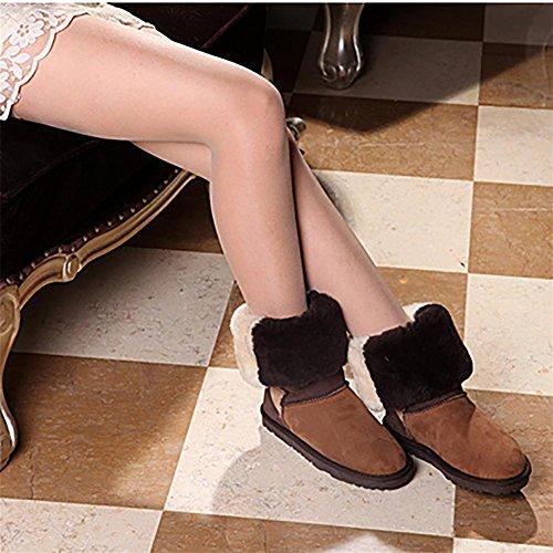 Longra Donna I sandali del Rhinestone della perla bordano i pattini di codice di codice esterno (EU Size:38, Caff��)