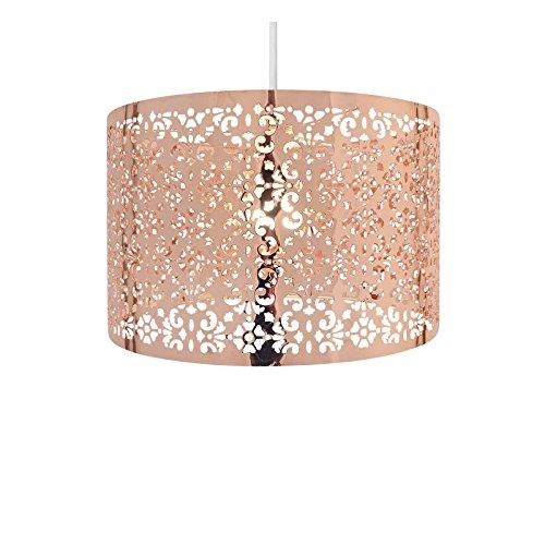 Elegante paralume per lampadari e lampade a sospensione, decorato con gocce in cristallo, facile da montare, metallo, copper 60 wattsw