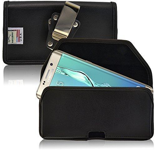 Turtleback Gürtel Case Kompatibel mit Samsung Galaxy S6Edge Plus Schwarz Holster Leder Tasche mit Heavy Duty Drehbar Ratschenmechanismus Gürtelclip horizontale Made in USA (Iphone 5s-gebaut In Bildschirm)