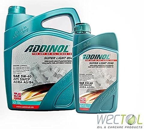 Addinol Super light 0540 · SAE 5W-40 / 6 Liter 5+1 Liter