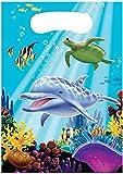 8 Partytüten * OCEAN PARTY * für Kindergeburtstag und Mottoparty // Kinder Geburtstag Party Loot Bags Ozean Meer Korallenriff Clownfisch Schildkröte Delfin
