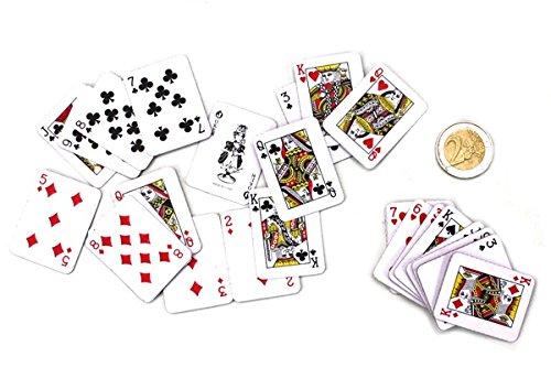 Mini-Kartenspiel 54 Karten ca. 4x3cm Taschenkartenspiel (Import-mini)