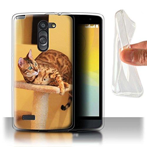 Stuff4® Gel TPU Hülle/Case für LG L Bello/D331 / Bengalkatze Muster Katze/Katzenrassen Kollektion