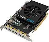 Sapphire Gpro 6200 Graphics Card 4GB GDDR5 PCI-E EYEFINITY 6 EDITION 1 Slot Fan w/Ball Bearing 50 W 2XmDP to SL DVI PASSIVE Cable Brown Box)