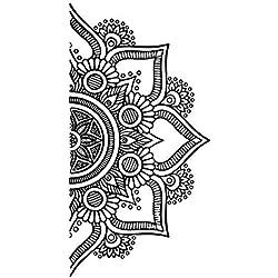 Uranusin Patrón de Mandala Vid de la Flor de Pared Decorativos Vinilo Decorativo Tatuaje de Pared Fondo De La Pared Colocada para Sala de Estar Dormitorio Tipo Oficina MU4328