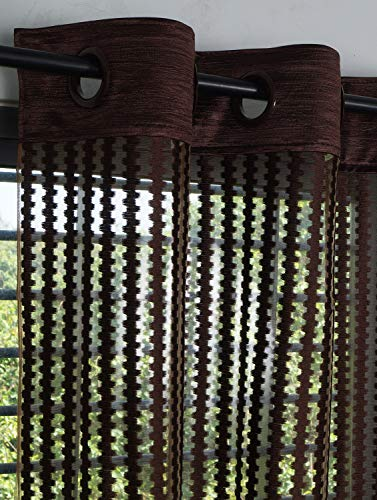 check MRP of brown curtains in living room Story@Home