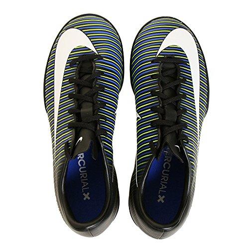 Nike 831949-013, Chaussures de Football Garçon Noir