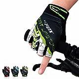 OUTERDO Unisex Mtb Fahrrad Radfahren Handschuhe Half Finger Atmungsaktive Stoßfeste Handschuhe Für Sommer Rad Sports Bike Rot M