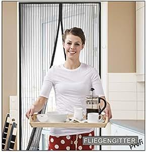 premium fliegengitter vorhang selbstschlie ende fliegengittert r einfache montage ohne bohren. Black Bedroom Furniture Sets. Home Design Ideas
