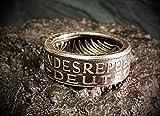 Coinring, Münzring, Ring aus Münze (1968 Heiermann - Silberadler - 5 Mark), 625er Silber - Double Sided coin ring - verschiedene Größen, Ihr handgeschmiedetes Unikat