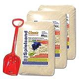 MGS SHOP 75kg Spielsand Quarzsand TÜV geprüft Top Qualität 0-2 mm Sandkasten (mit Schaufel)