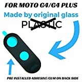 Hukato Back Rear Camera Glass Lens With Sticker/Adhesive for Moto G4/G4 Plus (black)
