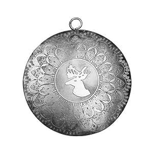 Suspension décorative-argent-diamètre: 8 cm - 1 pièce
