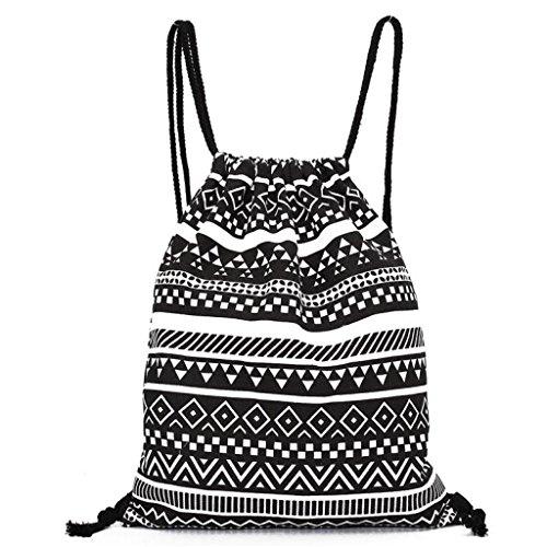 Cosanter Sacca Hipster Canvas Gymsack Gym Bag sacchetto Sport Zaino per uomo e donna