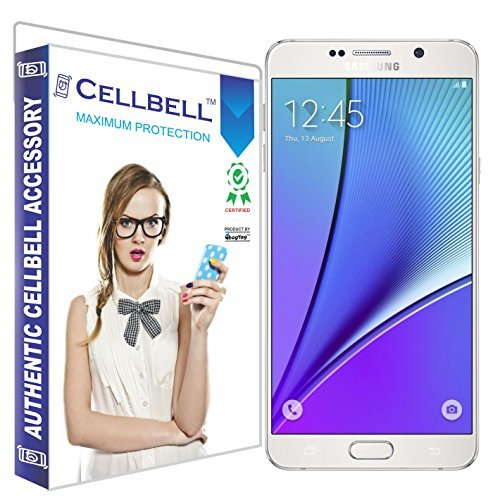 Cellbell-Premium-Samsung-Galaxy-Note-5-Tempered-Glass-Screen-Protector-Comes-with-WarrantyUser-guideComplimentary-Prep-cloth-Bronze-Edition