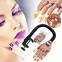 Ankamal Elec Adjustable Life Size Nail Art Training Hand Practice Learning Model + Refit Tips High of sturdy made quality