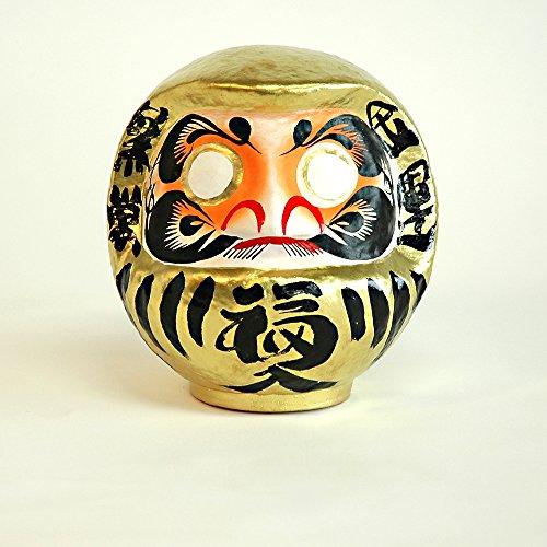 Japón CRAFT - muñeca de la suerte - DARUMA - tamaño 2 - oro