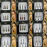 Banithani paquete de 12 multicolores bindi mujeres indias auto etiqueta adhesiva accesorio tatuaje