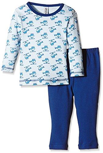 Magic Kids Jungen Zweiteiliger Schlafanzug Gr. 122, Blau (Ombro Blue 747)