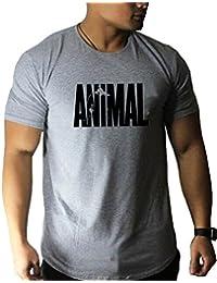 5311fae14792 Minetom T-Shirt Uomo Leisure Basic Manica Corta Stampa Animale Girocollo  Tops Bodybuilding Allenamento Muscoli
