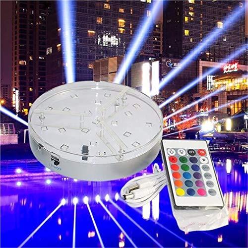 LHY LIGHT Ferngesteuertes RGB Unterwasserlicht Batteriebetriebene Unterwasser-Nachtlampe Außenvase Schüssel Gartenparty Dekoration