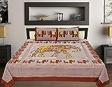 Jaipur Print 100% Cotton King Size Bedsh...