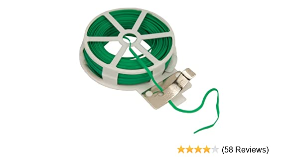 Reusable. Cut to Length Using Built-in Blade Garden Tie Wire 30m Frost-Resistant Coated Wire tie Cord Ideal for Garden use