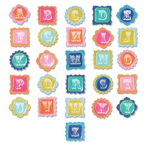 Sizzix embellishments moroccan chipboard alphabet -
