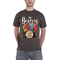 Pepper Lonely Hearts Sgt The Beatles Logo ufficiale Mens New