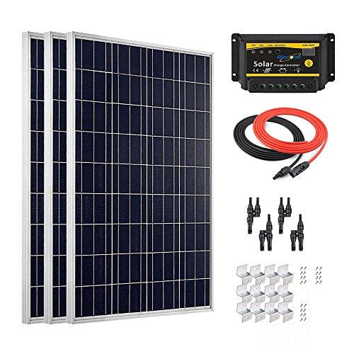 Giosolar 300W, hocheffizient, Solarpanel Solar PV PANEL, LED-Controller für Wohnmobil, Wohnwagen, Camper, Boot/Yacht (Camper Für Solar-panel-kit)